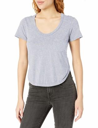 LAmade Women's Short Sleeve Round Hem Pocket Tee