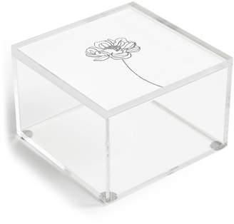 Deny Designs The Colour Study Single Flower Drawing Hazel Acrylic Box