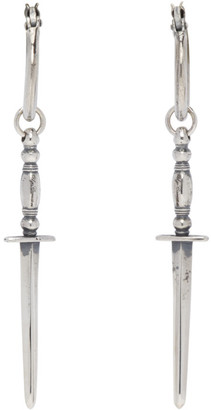 Ugo Cacciatori Silver Gladius Earrings