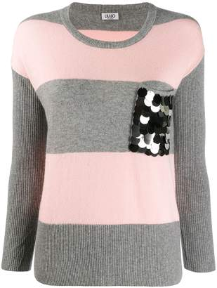 Liu Jo fitted striped jumper