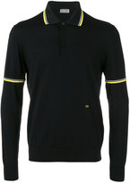 Christian Dior contrast polo shirt