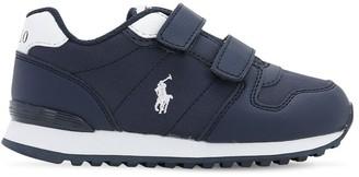Ralph Lauren Logo Detail Faux Leather Strap Sneakers