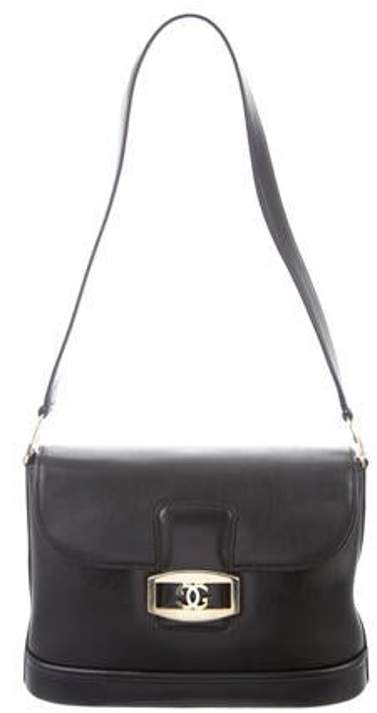 42b8b5094b3e Vintage Leather Structured Shoulder Bag Black Vintage Leather Structured  Shoulder Bag
