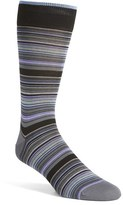 Bugatchi Men's 'Multi Thin Stripe' Socks
