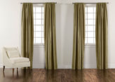 "Ethan Allen 90"" Seedling Green Satin Dupioni Rod-Pocket Panel"