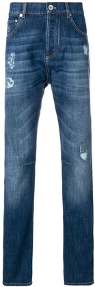 Brunello Cucinelli Distressed Straight Leg Jeans