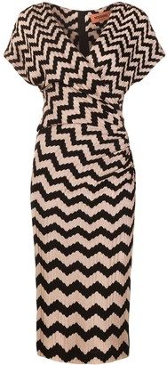 Missoni Zig-Zag Embroidered Midi Dress