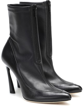 Jimmy Choo Brax 100 leather ankle boots