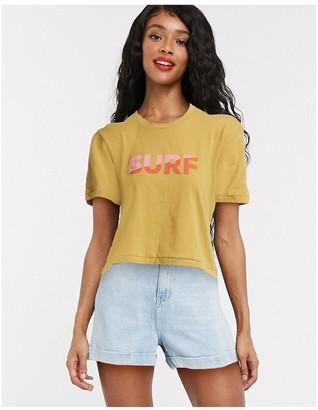 Billabong Surf oversized t shirt in yellow
