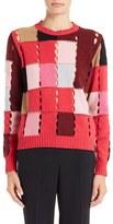 MSGM Women's Open Knit Wool Blend Sweater