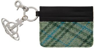 Vivienne Westwood Black and Green Aran Keyring Card Holder