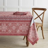 Snowflake Jacquard Tablecloth, Red