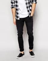 Dr Denim Snap Skinny Jeans In Black Used