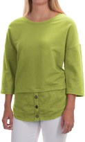 Neon Buddha Valley Fooler Tunic Shirt - Stretch Cotton, 3/4 Sleeve (For Women)