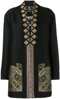 Etro embroidered coat - women - Cotton/Polyester/Acetate/Wool - 42