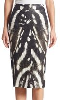 Max Mara Ghetta Printed Pencil Skirt