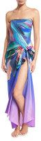 Gottex Macaw Printed Silk Pareo