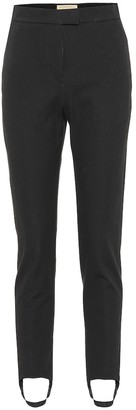 Burberry Cotton-blend twill stirrup pants