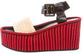Celine Raffia Wedge Sandals w/ Tags