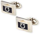 Salvatore Ferragamo Gancini-Enamel Rectangular Cuff Links, Blue
