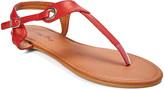 Star Bay Women's Sandals Burgundy - Burgundy Grommet-Accent T-Strap Sandal - Women