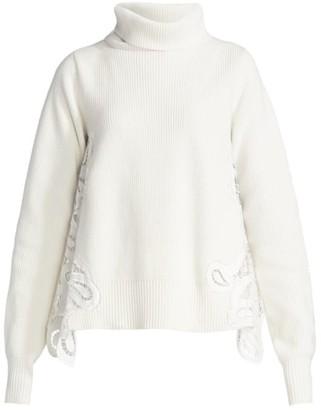Sacai Paisley Lace Turtleneck Sweater