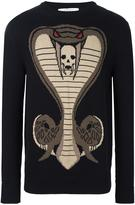 Givenchy cobra knitted jumper