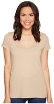 LAmade Short Sleeve Low V-Neck Boyfriend Tee Women's T Shirt