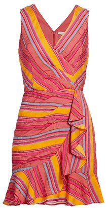 Parker Shella Striped Ruffle Dress
