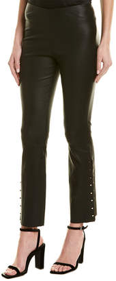 Alice + Olivia Kylyn High-Waist Leather Pant