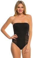 Kenneth Cole Deco the Distance Bandeau One Piece Swimsuit 8139299