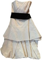 Monique Lhuillier White Silk Dress for Women