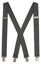 Topman Black And White Houndstooth Suspenders