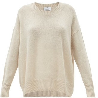 Allude Oversized Round-neck Cashmere Sweater - Cream