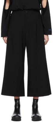 Regulation Yohji Yamamoto Black Wool R-Waist Tub Trousers