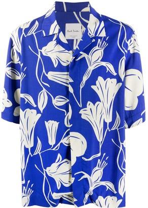 Paul Smith Floral Print Short Sleeve Shirt