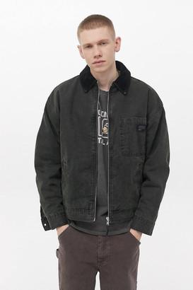 BDG Zip-Through Fleece-Lined Canvas Work Jacket
