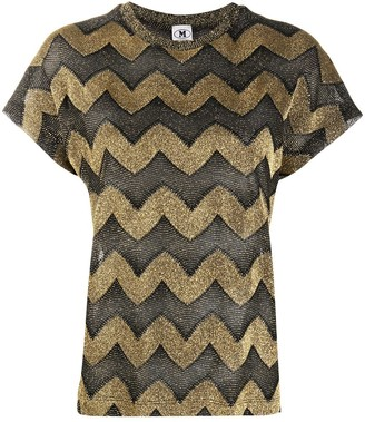 M Missoni Zig-Zag Knit Top