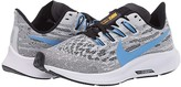Nike Air Zoom Pegasus 36 (Little Kid/Big Kid) (White/University Blue/Black) Kids Shoes