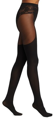 Wolford Andy Lace-Trim Tights