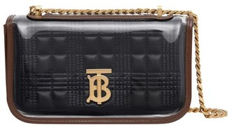 Burberry Mini Quilted Lambskin Lola Bag with Transparent Cover