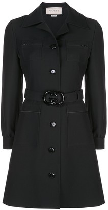 Gucci double G belted shirt dress