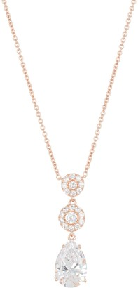 Nadri Pipa Rose Gold Plated CZ Pendant Necklace
