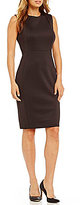 Calvin Klein Solid Scuba Sheath Dress