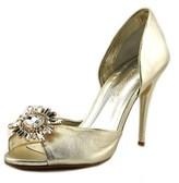 Caparros Zinger Women Peep-toe Synthetic Silver Heels.