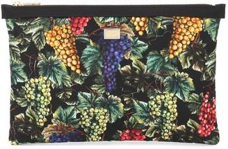 Dolce & Gabbana Printed canvas pouch