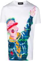 DSQUARED2 Boy Scout paint-effect T-shirt