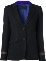 Etro contrast details single breasted blazer