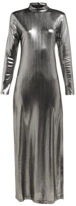 Bella Freud Radzville Shimmering Maxi Dress - Womens - Silver
