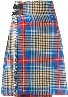 Charles Jeffrey Loverboy Shepherd tartan skirt